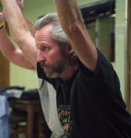 James Fox conducting yoga for prisoners