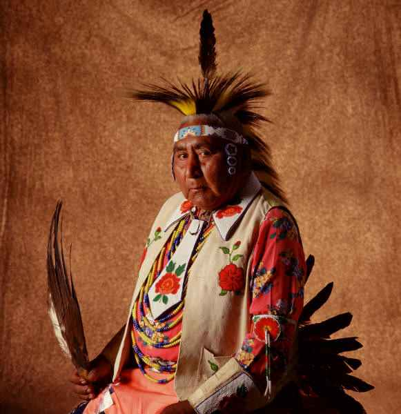 Picture of a native indian Medicine Man