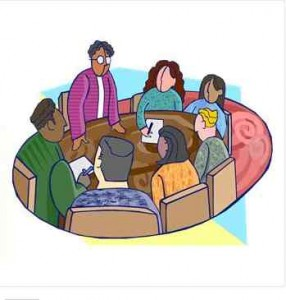 Image of a business meeting