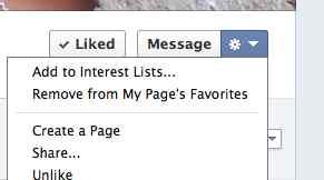 Add To Interest List Facebook Page